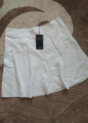 Лляна спідниця юбка