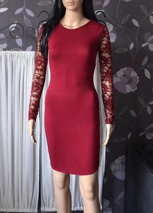 Красиве плаття з кружевом boohoo 1+1 = 3