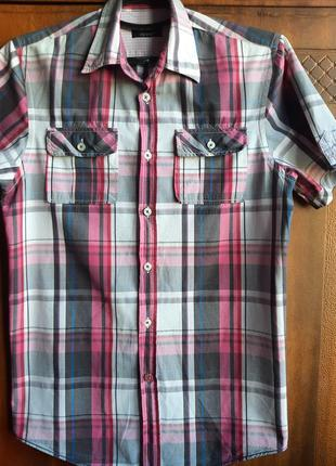 Легкая мужская рубашка zara р.s