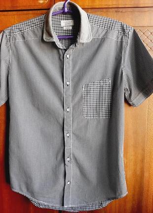 Стильная легкая мужская рубашка zara р.s
