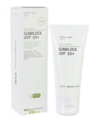 Солнцезащитный крем innoaesthetics sunblock uvp 50+ 50 мл