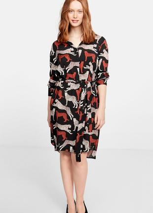 Вискозное  платье рубашка mango  р.50- 52-54