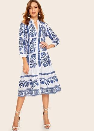 Zara платье из натуральной ткани