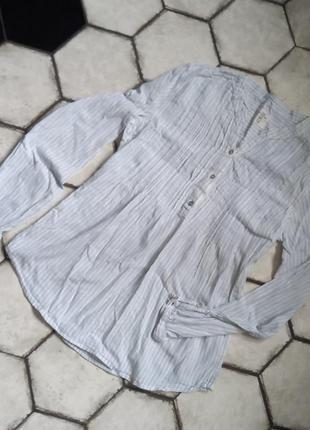 Нежная рубашка в полоску h&m