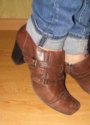 -50%распродажа осенней обуви,интересные ботиночки кожа 27 см