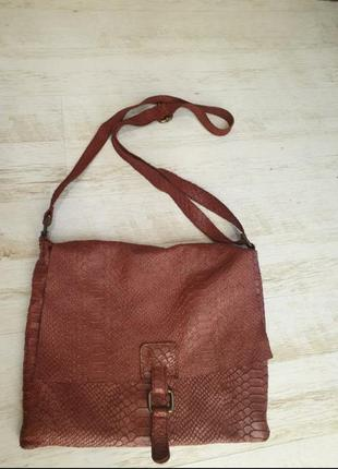 Мягкая кожаная сумка на плече borse in pelle