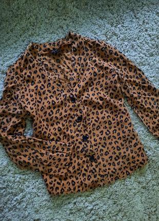 Блуза рубашка леопард