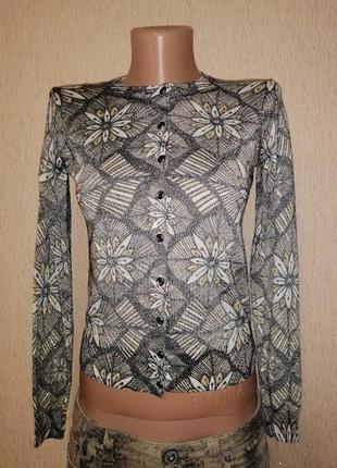 Красивая женская трикотажная кофта, джемпер на пуговицах marks & spencer