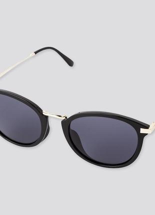 Стильные солнцезащитные черные очки uv400 uniqlo юникло уникло оригинал