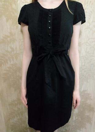 H&m платье-рубашка, классическое платье, платье с поясом, миди, сарафан, нарядное платье