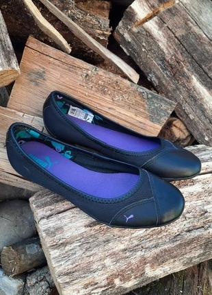 Кожаные мокасины,балетки,туфлі от puma,оригинал,сток!