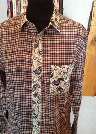 Комбинированная, двойная рубашка бренда moschino, р. 48-50