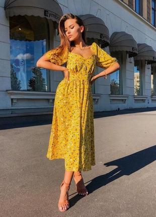 Нова літня сукня у квітковий принт
