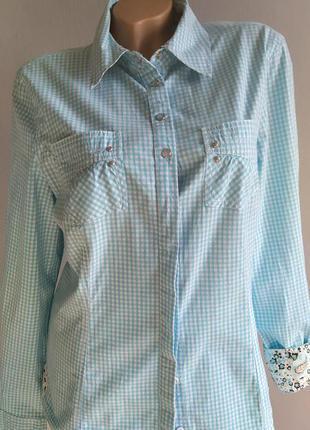 Рубашка в мелкую клетку, стиль 80-х, кантри