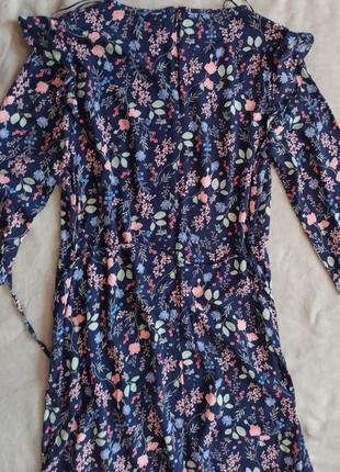 Платье с цветочным принтом jessica вискоза
