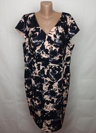 Платье шикарное в принт большого размера uk 18/46/xxl