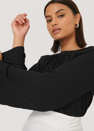 Блуза с присборенным воротником  na-kd / как zara, h&m