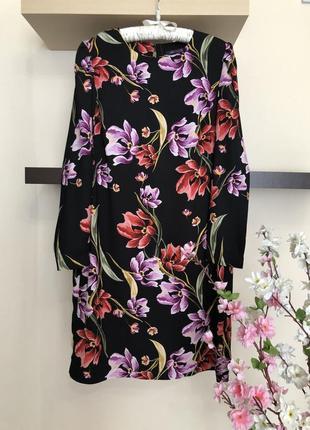 Прямое платье с цветами, платье свободного кроя