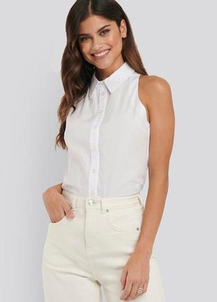 Хлопковая блуза на пуговицах  na-kd / как zara, h&m