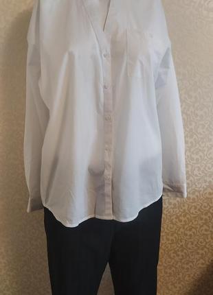 Белая рубашка esprit organic cotton