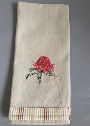 Полотенце лён вышивка италия