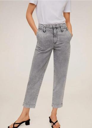 Шикарные светло-серые джинсы mango, 42 eur