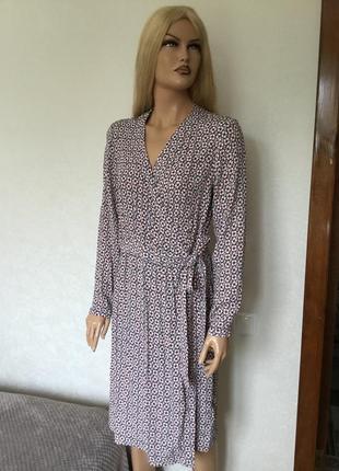 Новое с биркой платье миди на запах h&m размер 12/14