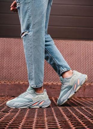 Мужские кроссовки adidas yeezy boost 700 inertia grey.