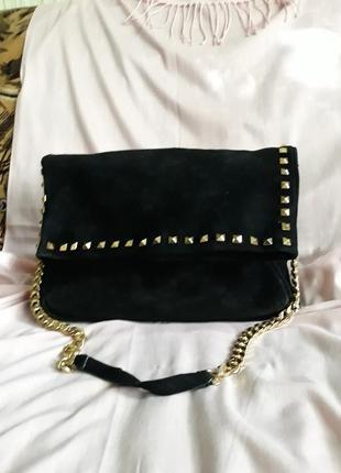 Шикарная замшевая сумка