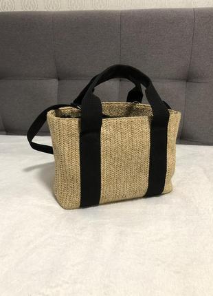 Соломенная сумка bershka летняя