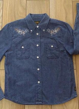 Джинсовая рубашка с вышивкой lee