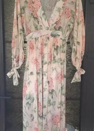 Платье в стиле  zimmermann в цветочный принт