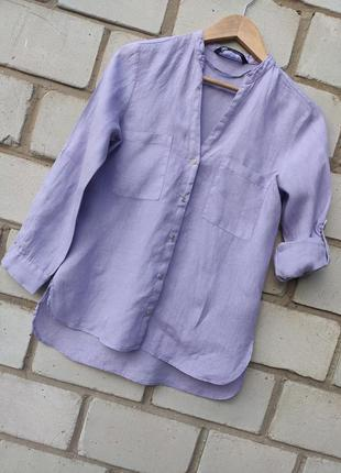 Льяная рубашка от zara раз.xs