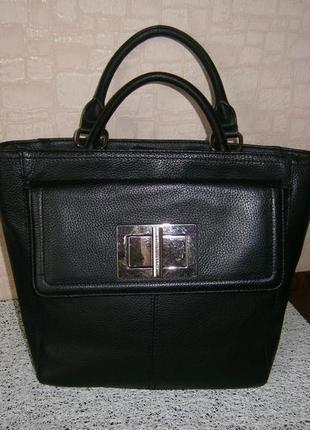 Повседневная сумка из натуральной кожи с ремнем через плечо. tignanello