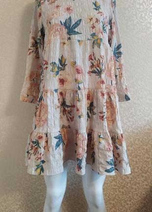 Короткое платье в цветы zara