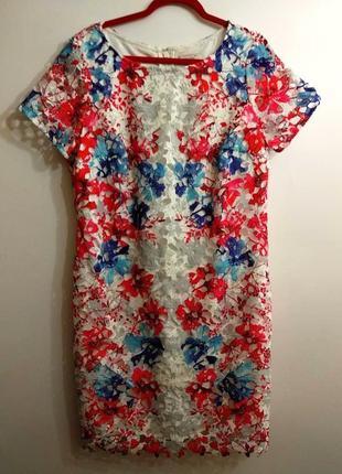 Шикарное кружевное платье карандаш премиум коллекции 18/52-54 размера