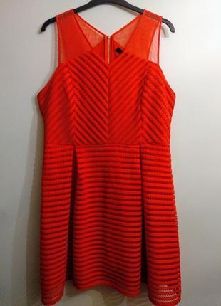 Дизайнерское платье кружево-сетка 18/52-54 размера