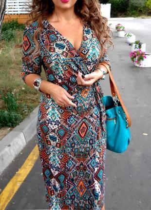 Распродажа платье asos marks & spencer/ per una миди на запах с мозаичным принтом