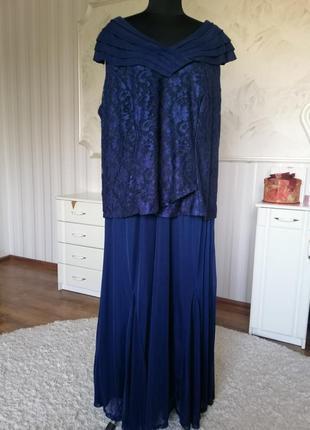 Шикарное нарядное платье большого размера 60-62.