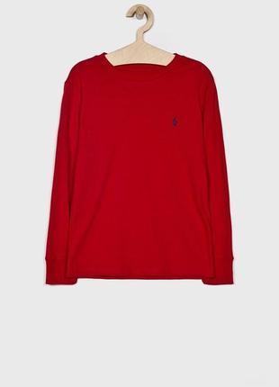 Красный бордовый лонгслив кофта футболка polo ralph lauren m