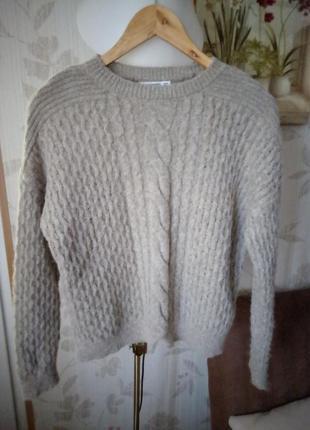 Теплейший вязаный свитер объемная вязка