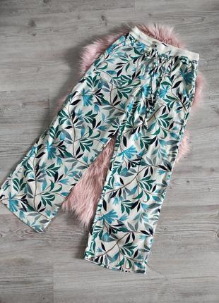 Натуральные летние льяныне брюшки штаны лен и вискоза на резинке