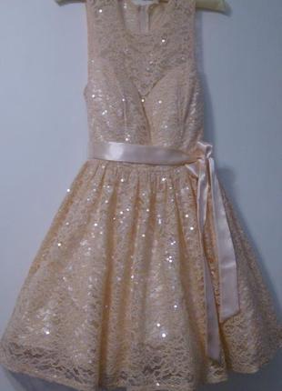 Нарядное вечернее (свадебное) платье b.darlin, 44 р