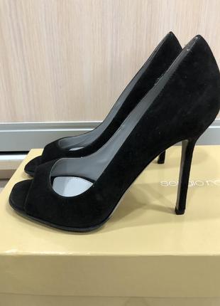 Туфли sergio rossi, натуральная замша новые