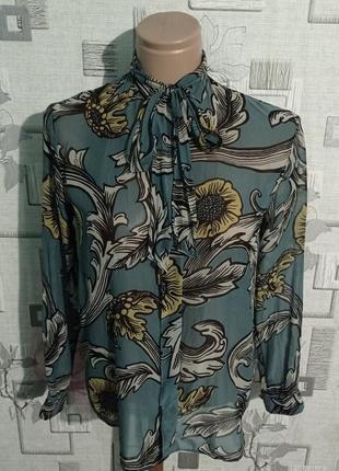 Шикарная блузка шелковая burberry prorsum