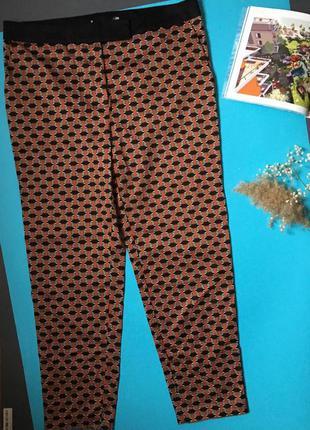 Зауженные брюки с принтом 12uk