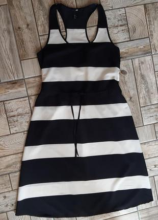 Красивое платье миди в полоску