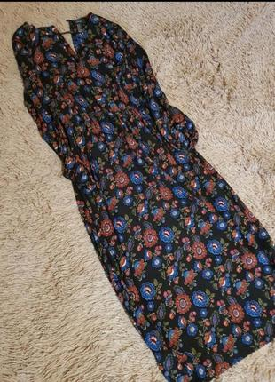 Суперское платье в цветы, актуальный крой