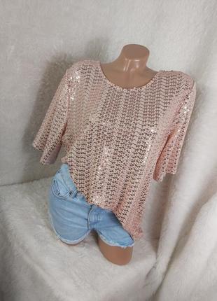 Шикарная блуза с пайетками нарядная