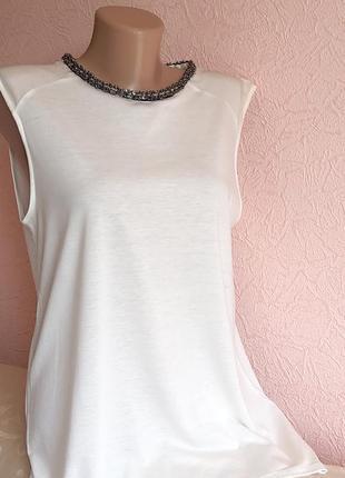 Красивая футболка zara  лиоцел +хлопок акция 1+1 =3 на блузы , рубашки , футболки